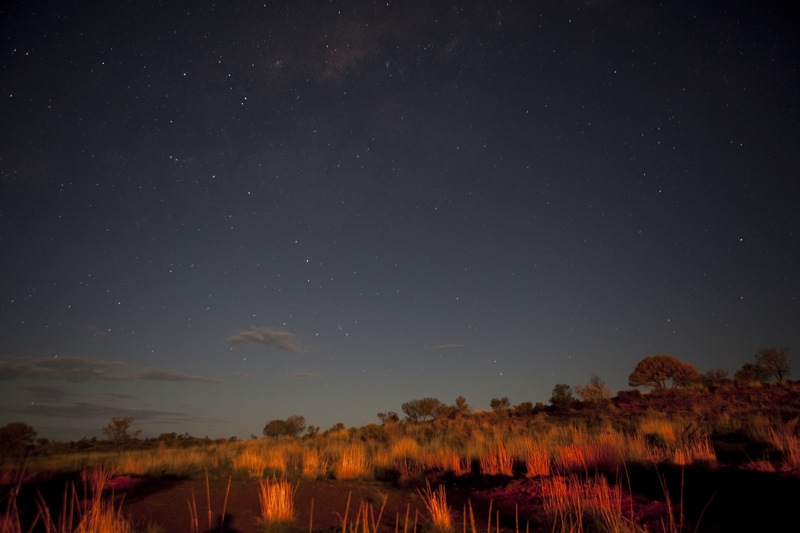 Milky Way seen next to Uluru_2