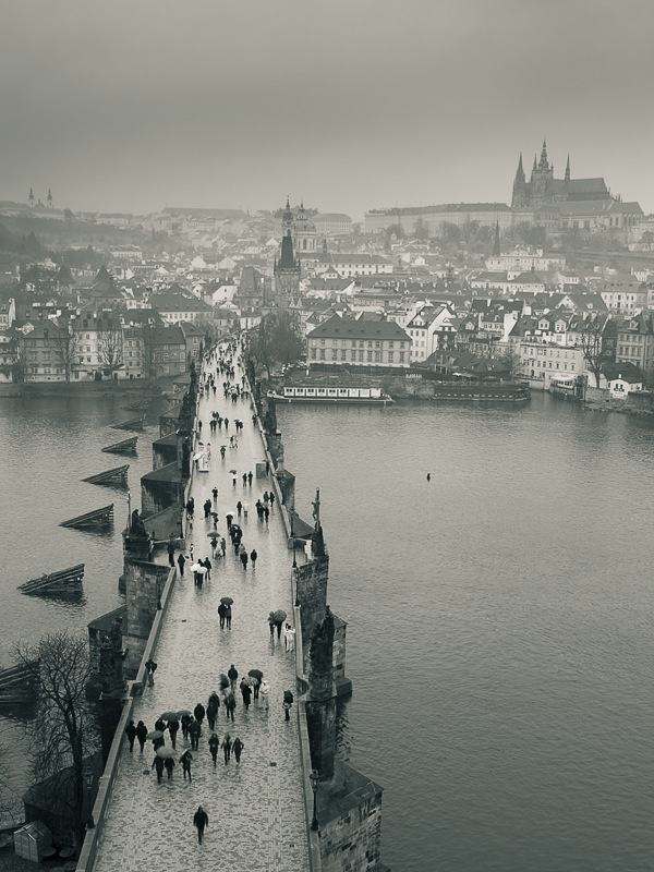 rainy Prague